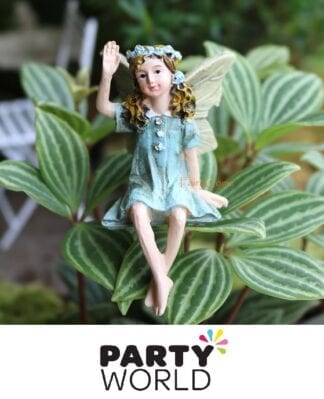 Fairy Garden Party Miniature Resin Figure Cake Topper