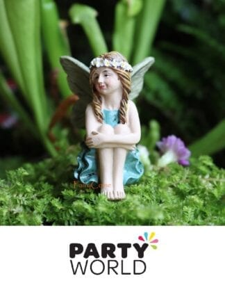Fairy Garden Party Miniature Resin Figure Cake Topper Folded Arms