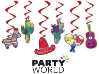 Fiesta Party Hanging Decorations (6pcs)