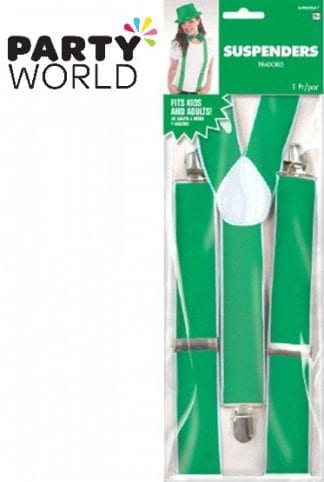 Green Coloured Suspenders
