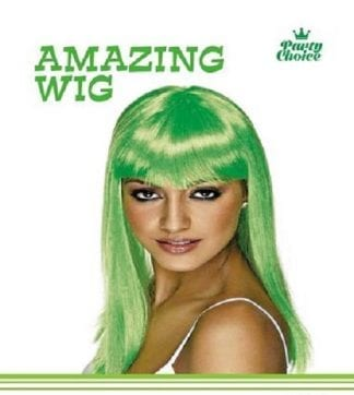 Green Long Straight Ladies Wig