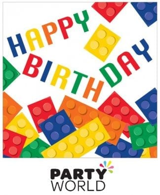 Happy Birthday Block Party Lunch Napkins (16)