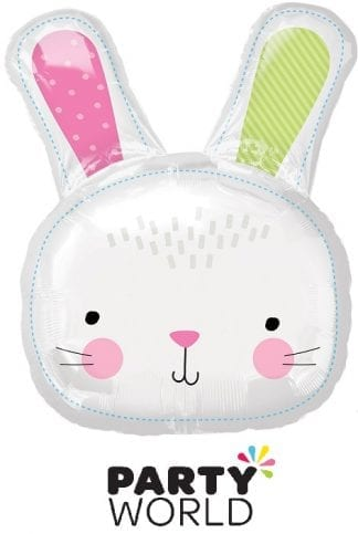 Hello Bunny Rabbit Head Supershape Foil Balloon