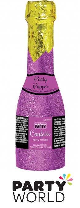 Hens Party Confetti Popper Glittered Champagne Bottle