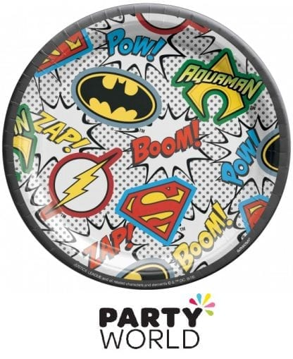 Justice League Heroes Unite Party 7in Paper Plates (8)