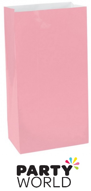 Large Paper Treat Bags - New Pink (12)
