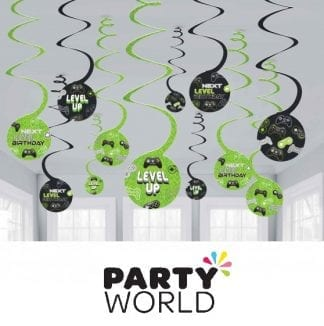 Level Up Gaming Spiral Swirls Hanging Decorations (12)