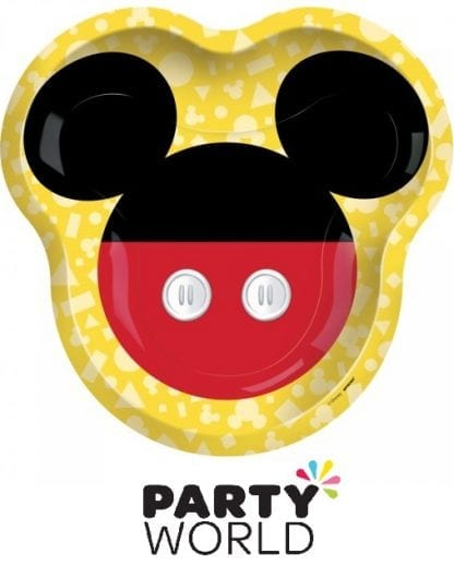 Mickey Mouse Forever Party Shaped Paper Plates (8)