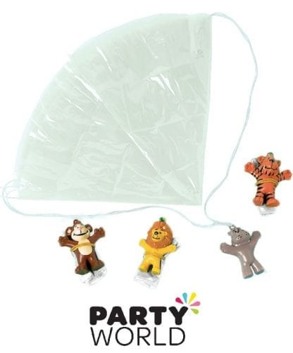 Parachute Zoo Animals - Value Pack Favours (12)