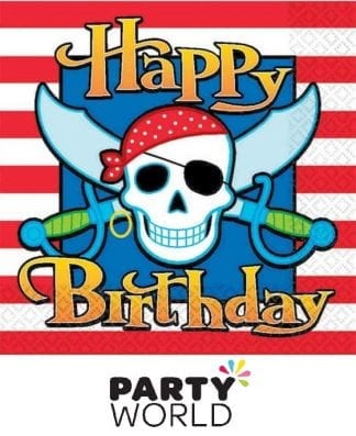 Pirate Party Paper Luncheon Napkins (16)