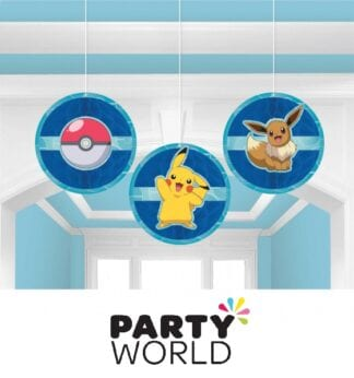 Pokemon Classic Party Honeycomb Hanging Decorations (3)