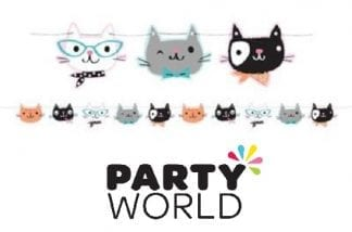Purrfect Party Cats Shaped String Banner