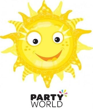 Sun Smiling Party Foil Supershape Balloon