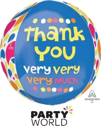Thank You Very Very Much Party Orbz Balloon