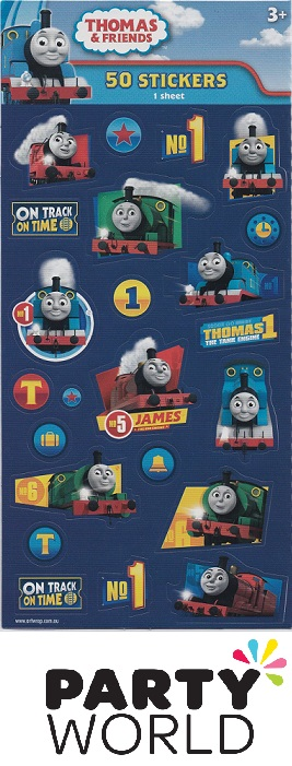 Thomas And Friends Party Sheet Of Stickers (50)