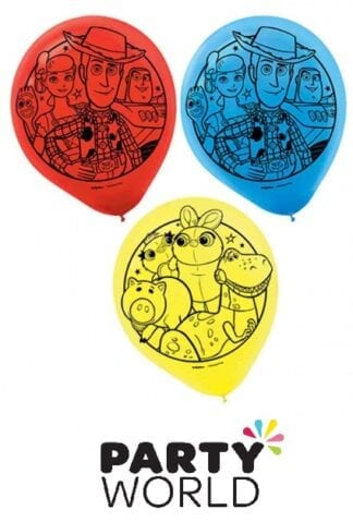 Toy Story Party Assorted Colour Latex Balloons (6)