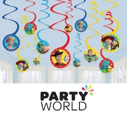 Toy Story Party Spiral Hanging Swirl Decorations