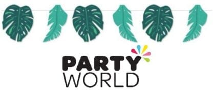 Tropical Party Leaves Bunting 2m (6pk)