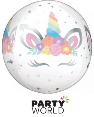 Unicorn Party Orbz Helium Fillable Balloon