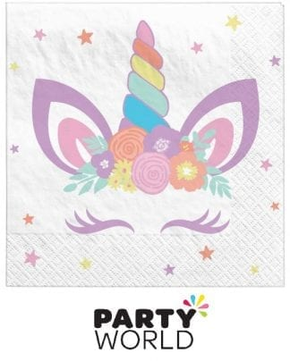 Unicorn Party Paper Beverage Napkins (16)