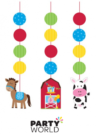 hanging cutouts farmhouse fun barnyard themed party decorations