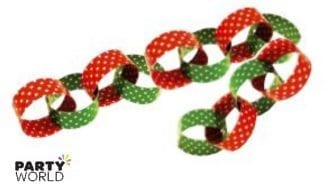 red & green paper chain garland
