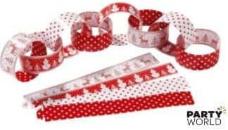 red & white christmas paper chain