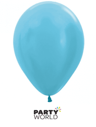 satin caribbean blue mini balloons