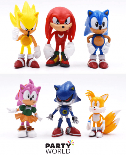 sonic the hedgehog figurines cake toppers