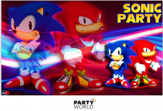 sonic the hedgehog party backdrop