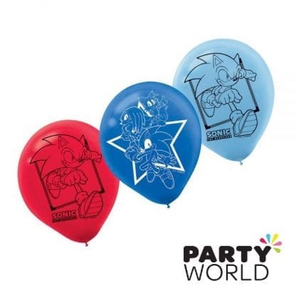 sonic the hedgehog party latex balloons