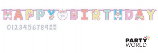 unicorn rainbow birthday banner add an age