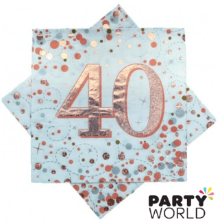 40th napkins