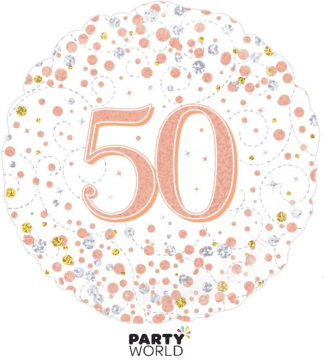 50th foil balloon rose gold