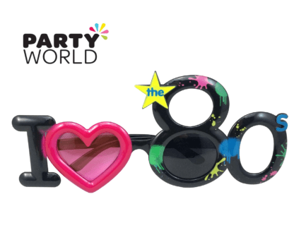 80's themed party glasses