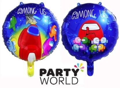 Among Us Party Round Foil Balloon