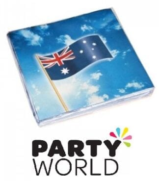 Australian Flag Party Paper Luncheon Napkins (16)