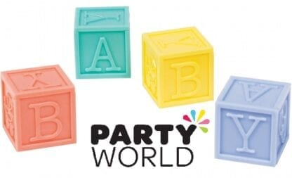 Baby Shower Party Blocks Multi-Coloured (4)
