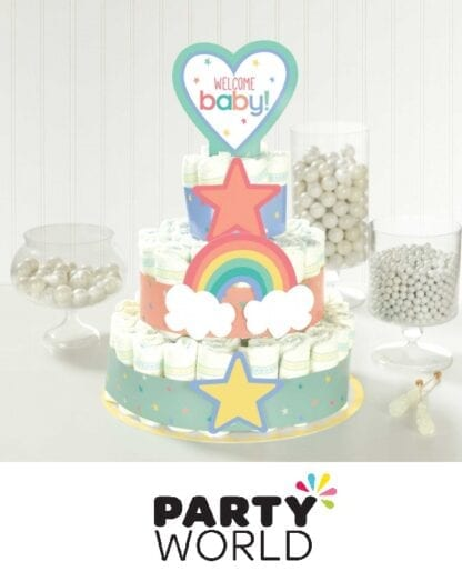 Baby Shower Party Gender Neutral Nappy Cake Kit