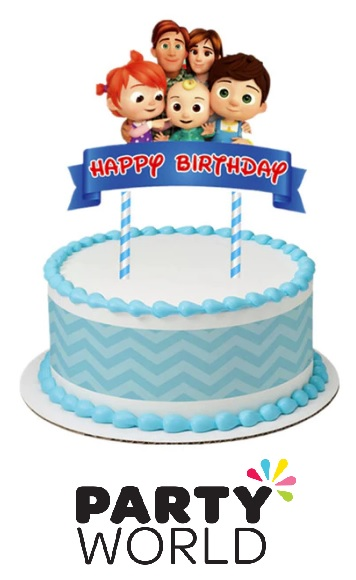Cocomelon Birthday Party Cake Topper