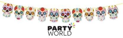 Day Of The Dead Party Skull Banner
