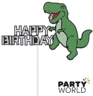 Dinosaur Party Happy Birthday Cake Topper