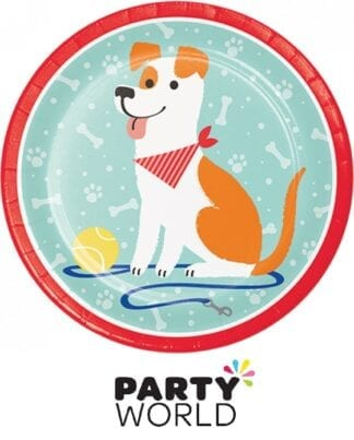 Dog Party 9in Round Paper Plates (8)