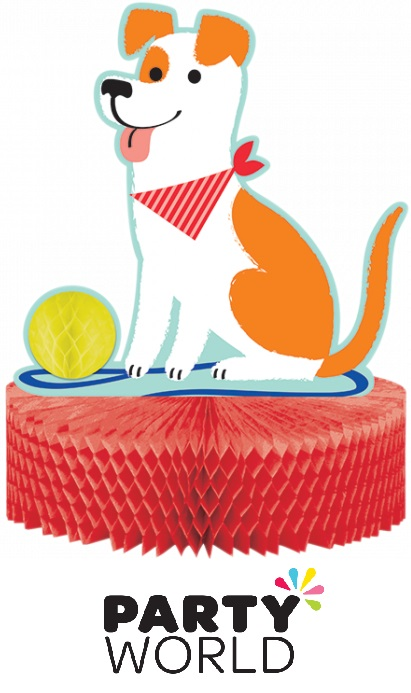 Dog Party Honeycomb Table Centrepiece Decoration