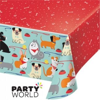 Dog Party Rectangular Plastic Tablecover