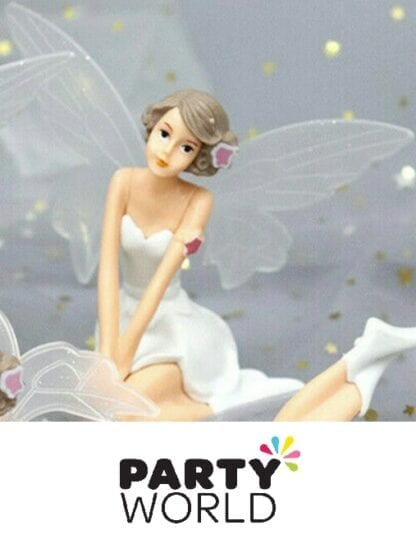 Fairy Party Figurine Decoration With Wings (Kneeling)