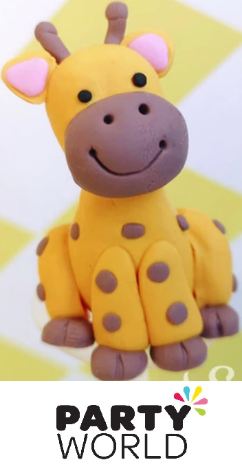 Giraffe Party Cake Topper With Pick