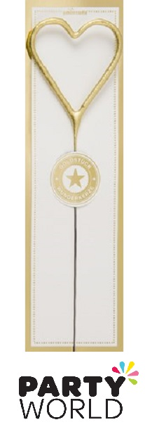 Gold Heart Sparkler Candle - Wondercandle