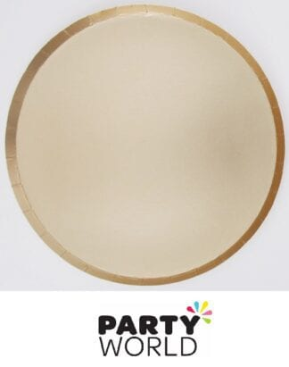 Gold Matte Foil Paper Party Plates 18cm (12)
