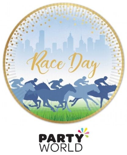 Horse Racing Race Day 7in Paper Plates Foiled Gold (50)